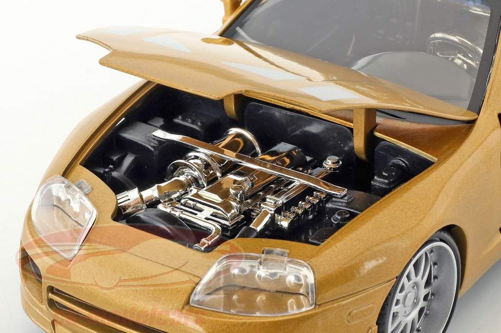 Slap Jack's Toyota Supra anno di costruzione 1995 film 2 Fast 2 Furious (2003) oro 1:24 Jada Toys