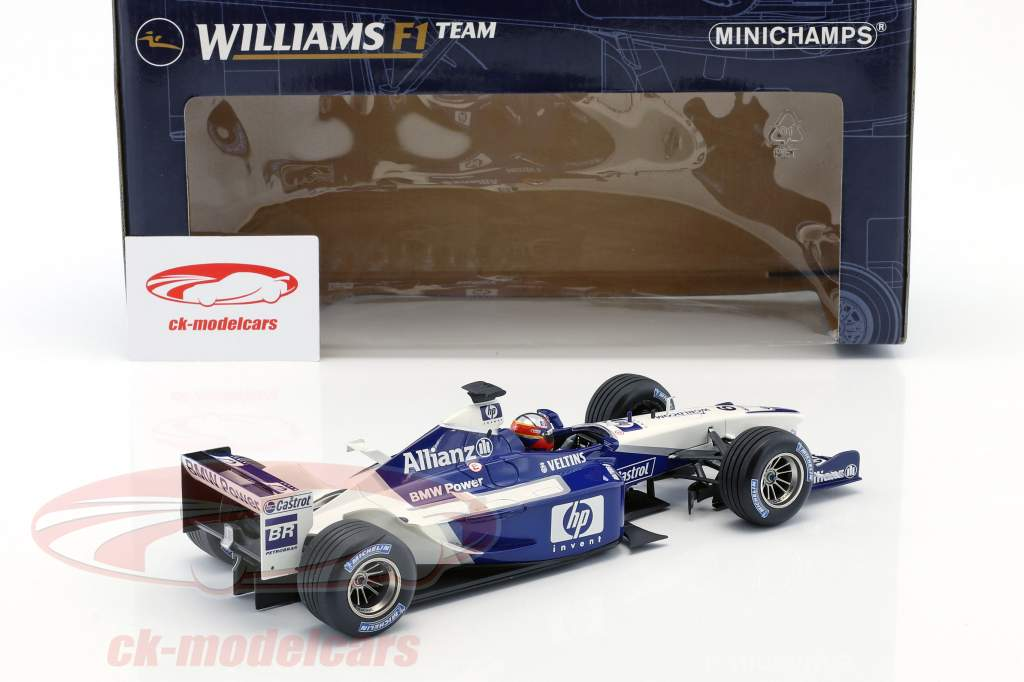 J.P. Montoya Williams FW24 #6 formule 1 2nd half of season 2002 1:18 Minichamps