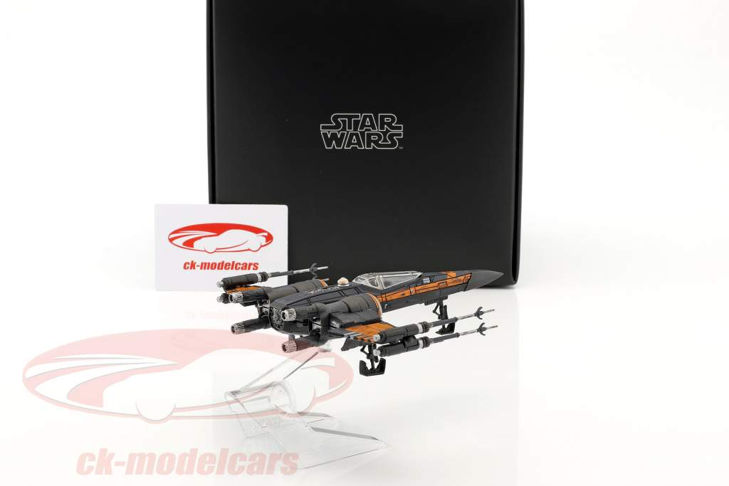 Poe's T-70 X-Wing Fighter Star Wars VII - The Force Awakens (2015) grau / hellbraun HotWheels Elite