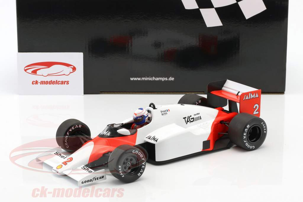 Alain Prost McLaren MP4/2B #2 campeón del mundo fórmula 1 1985 1:18 Minichamps