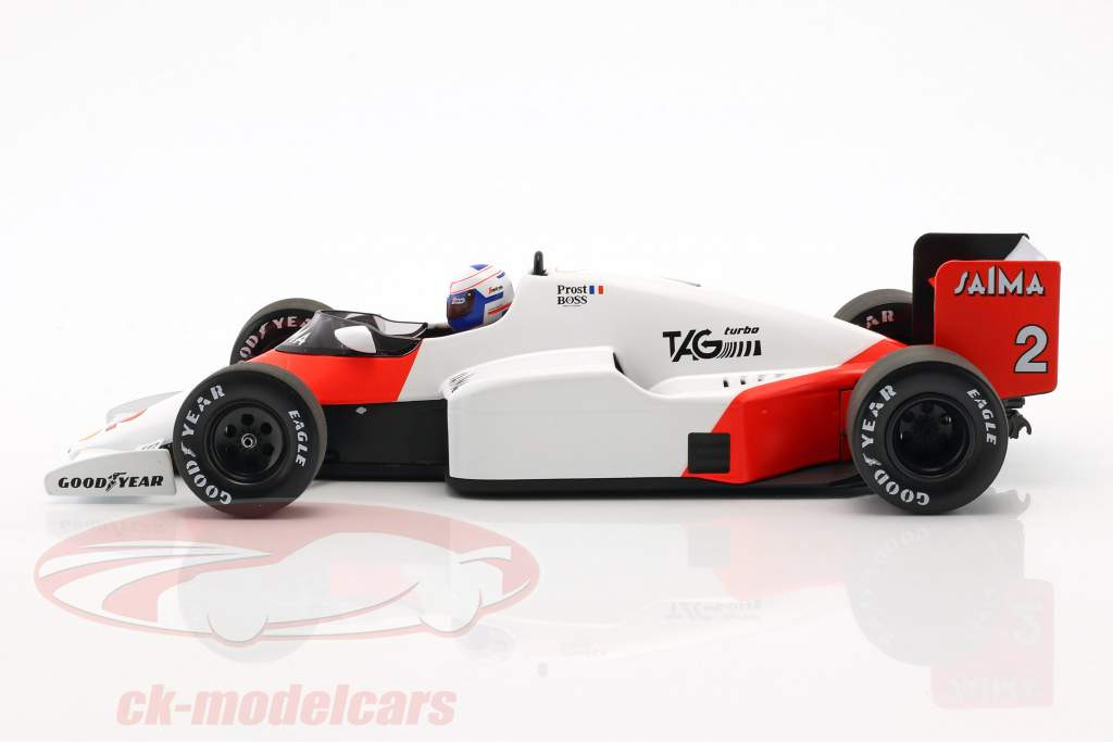 Alain Prost McLaren MP4/2B #2 wereldkampioen formule 1 1985 1:18 Minichamps