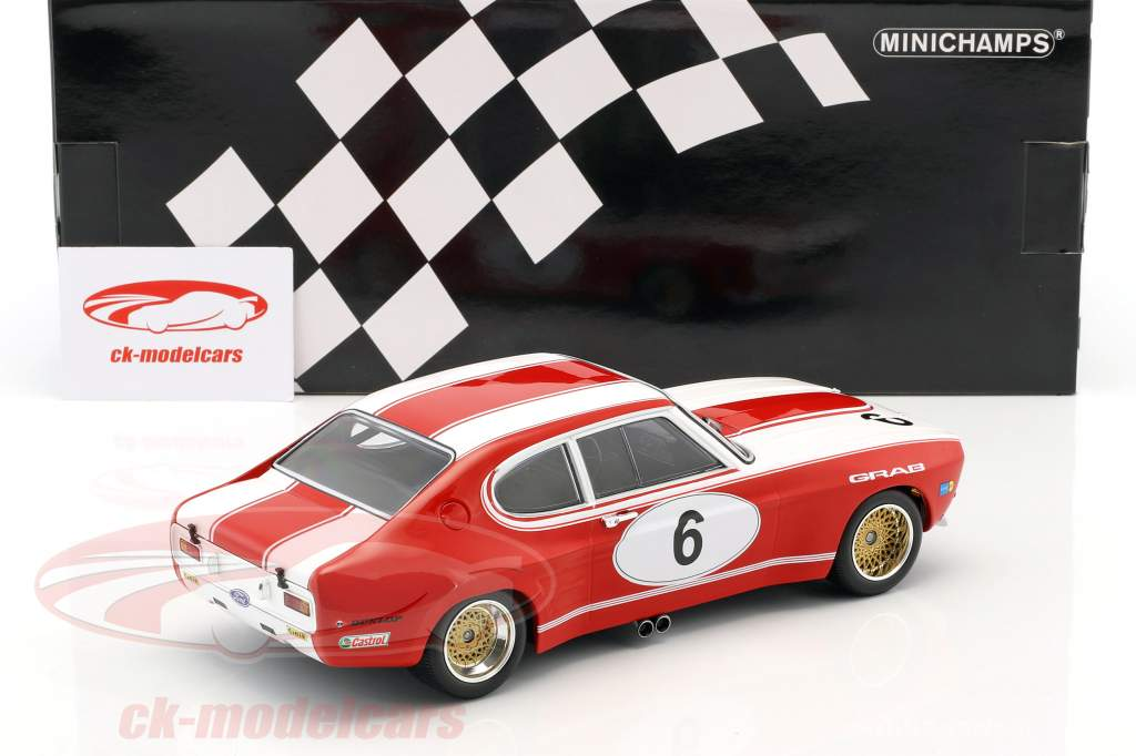 Ford RS 2600 #6 5e 6h Nürburgring 1973 Weiss, Ludwig 1:18 Minichamps