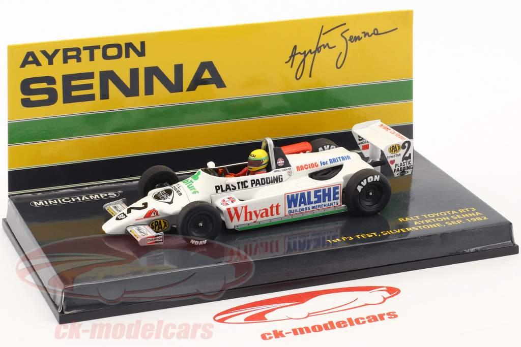 Ayrton Senna Toyota RT3 #2 1st F3 prøve Silverstone 1982 1:43 Minichamps