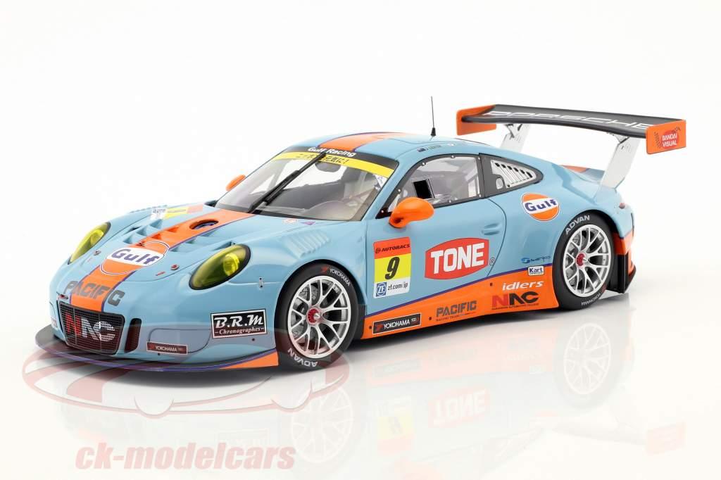 Porsche 911 (911) GT3 R #9 Super GT 300 Series Okayama 2017 Jono, Kyosuke 1:18 Minichamps