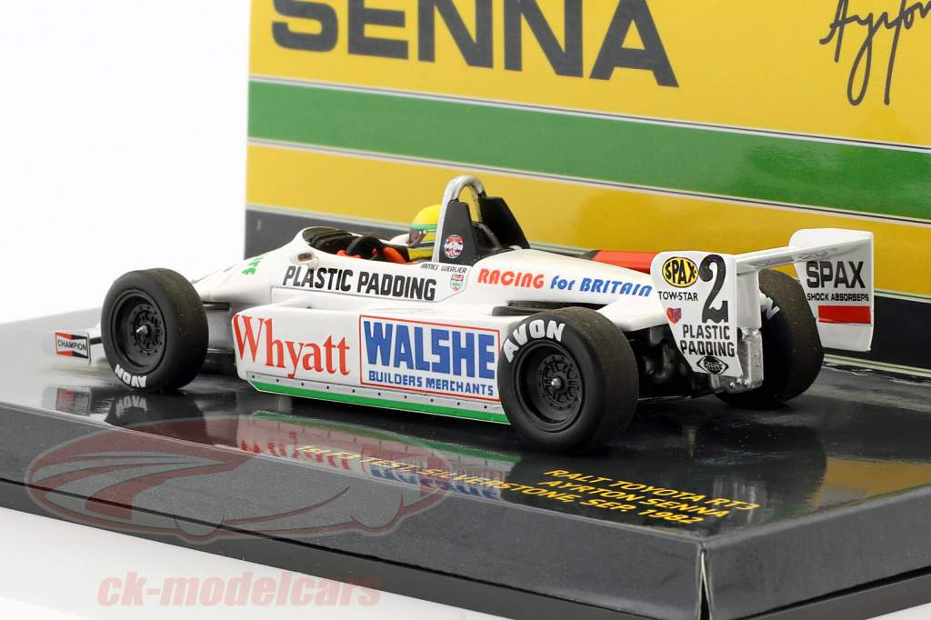 Ayrton Senna Toyota RT3 #2 primero F3 prueba Silverstone 1982 1:43 Minichamps