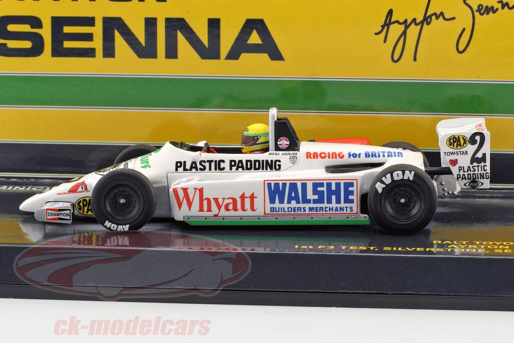 Ayrton Senna Toyota RT3 #2 1 ° F3 prova Silverstone 1982 1:43 Minichamps