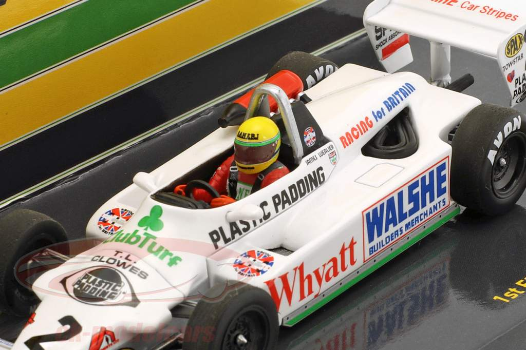 Ayrton Senna Toyota RT3 #2 1er F3 test Silverstone 1982 1:43 Minichamps