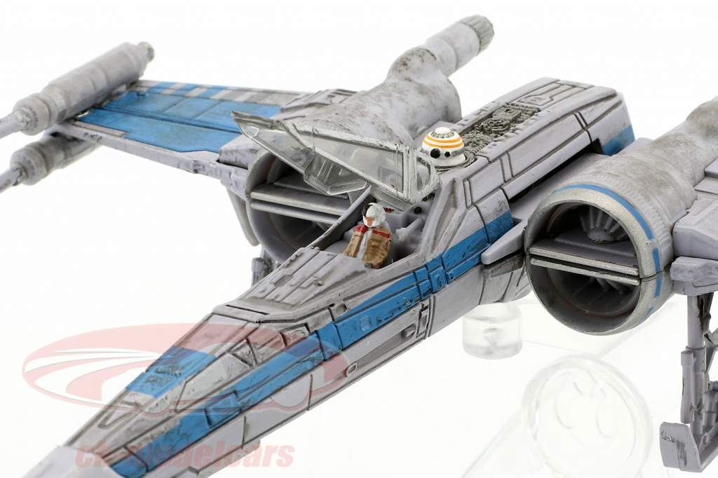 T-70 X-Wing Fighter Star Wars VII - The Force Awakens (2015) grå / blå HotWheels Elite