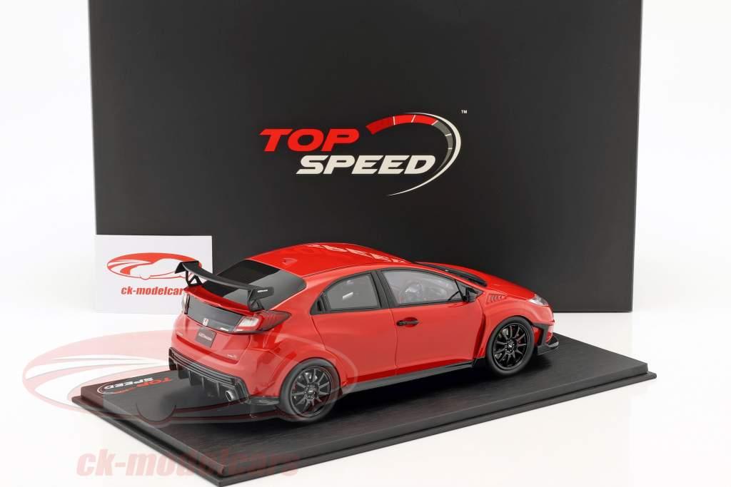 Mugen Honda Civic Type R año de construcción 2017 Milano rojo 1:18 TrueScale