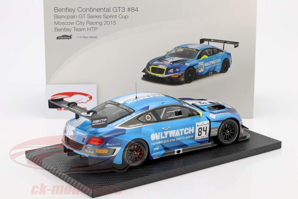 Bentley Continental GT3 #84 gagnant Moscow City Racing 2015 Bentley Team HTP 1:18 TrueScale