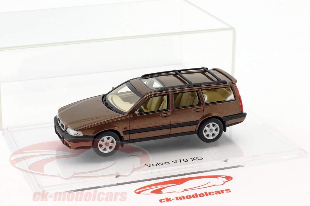 Volvo V70 XC año de construcción 1997 sandstone marrón metálico 1:43 DNA Collectibles