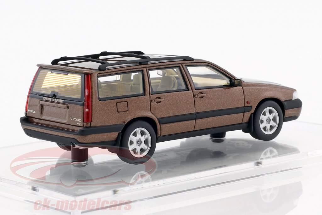 Volvo V70 XC Bouwjaar 1997 sandstone bruin metalen 1:43 DNA Collectibles