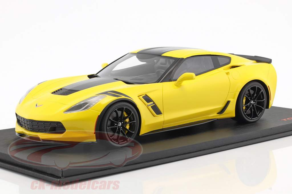 Chevrolet Corvette Grand Sport Opførselsår 2017 Corvette racing gul 1:18 TrueScale
