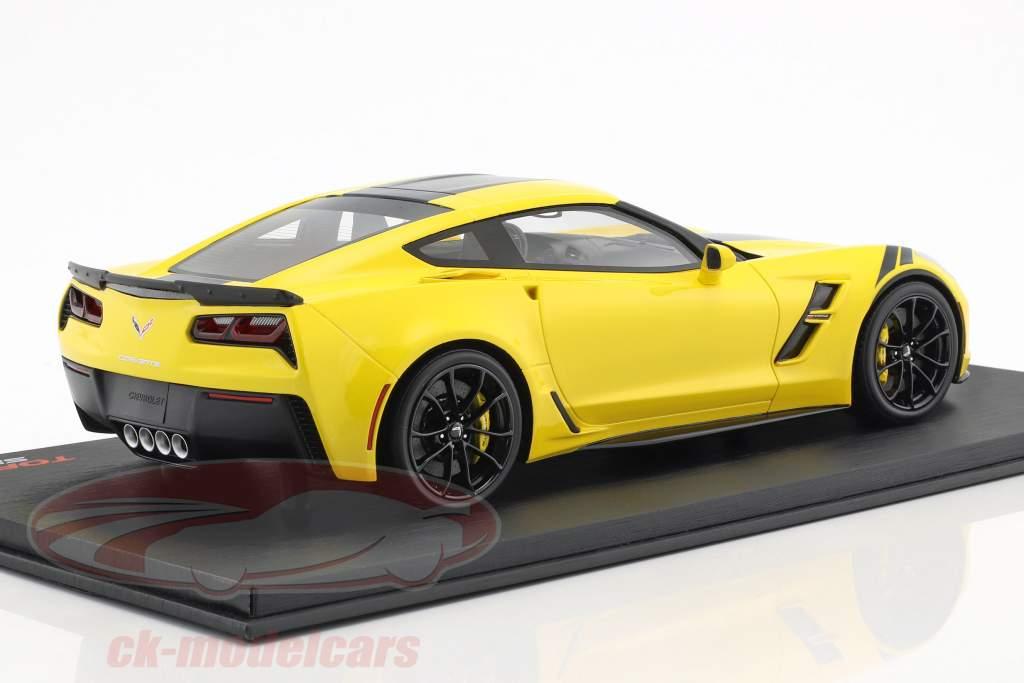 Chevrolet Corvette Grand Sport ano de construção 2017 Corvette racing amarelo 1:18 TrueScale
