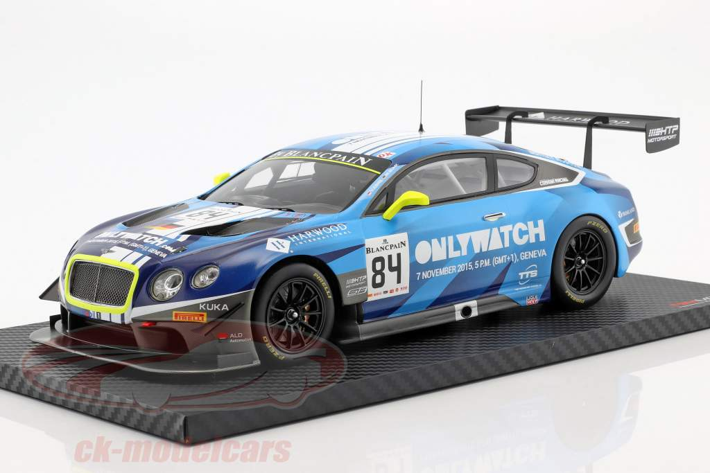 Bentley Continental GT3 #84 winnaar Moscow City Racing 2015 Bentley Team HTP 1:18 TrueScale
