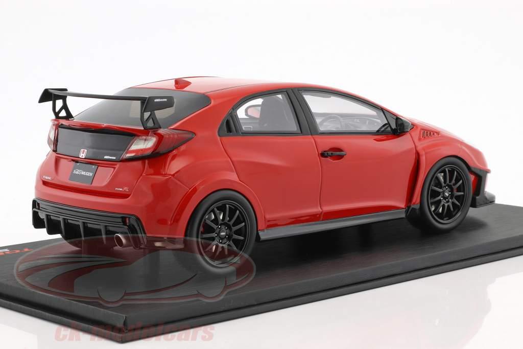 Mugen Honda Civic Type R Baujahr 2017 Milano rot 1:18 TrueScale