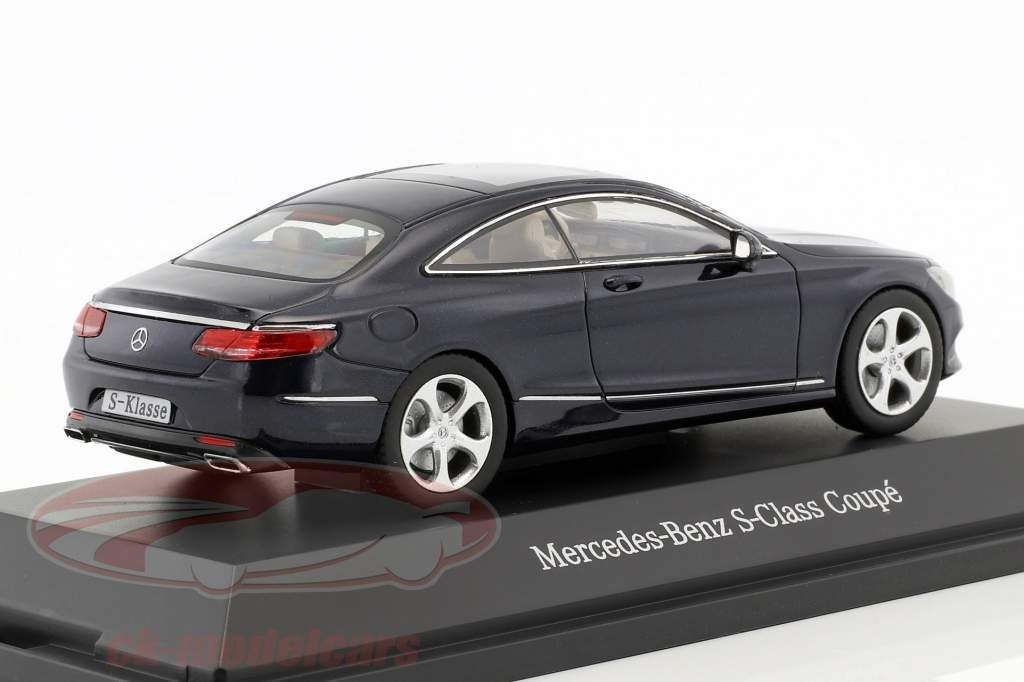 Mercedes-Benz S-Class Coupe Cavansite blue metallic 1:43 Kyosho