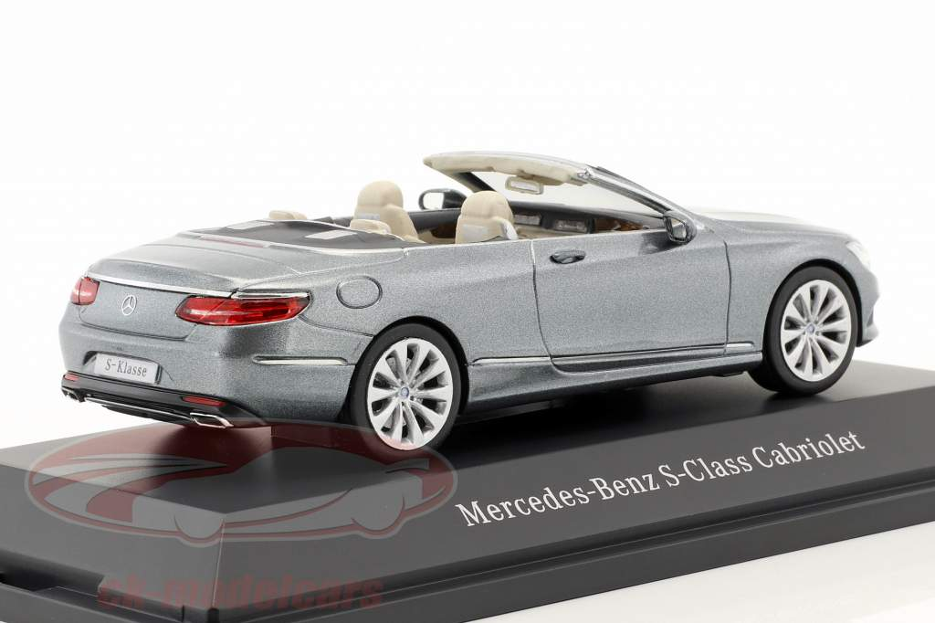 Mercedes-Benz S-Class Cabriolet (A217) selenite Grey 1:43 Kyosho