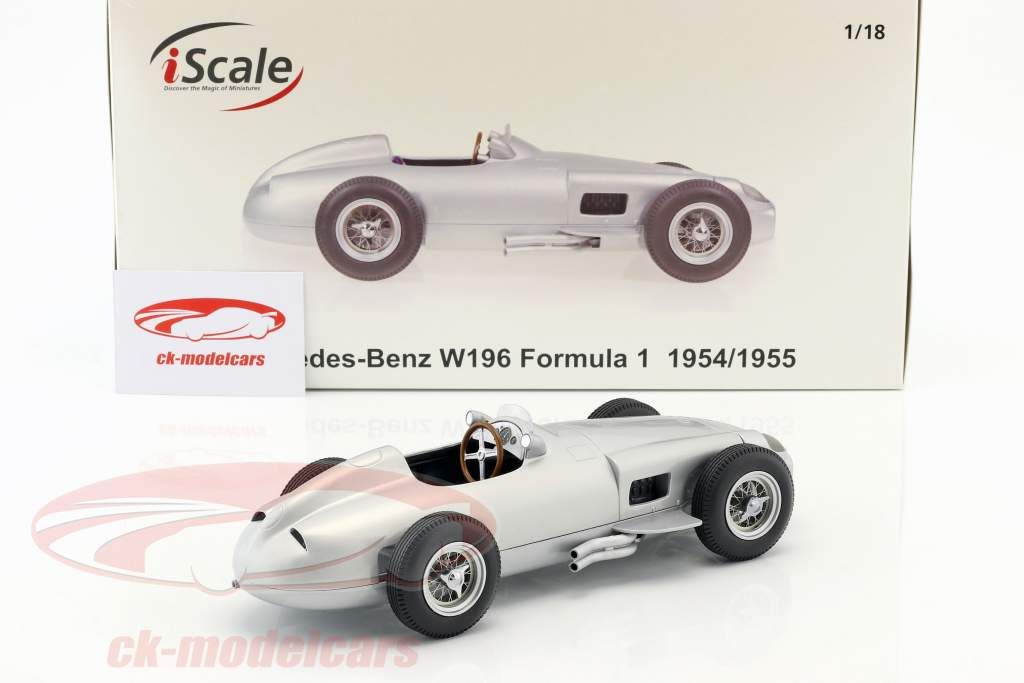 Mercedes-Benz W196 Plain Body Edition formule 1 1954/1955 1:18 iScale