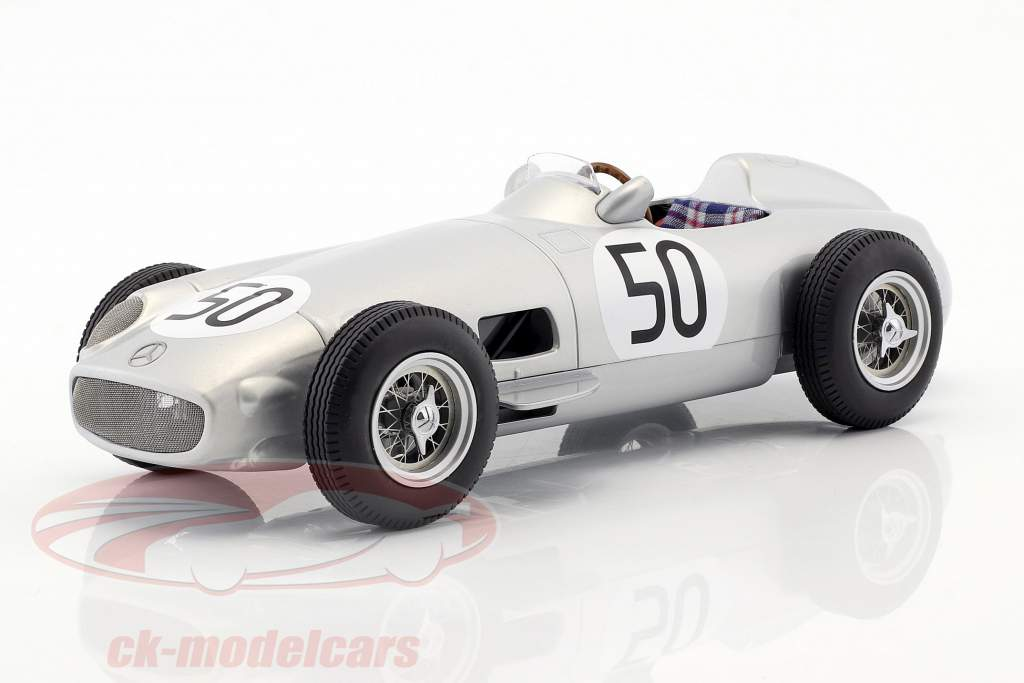Piero Taruffi Mercedes-Benz W196 #50 4th British GP formula 1 1955 1:18 iScale