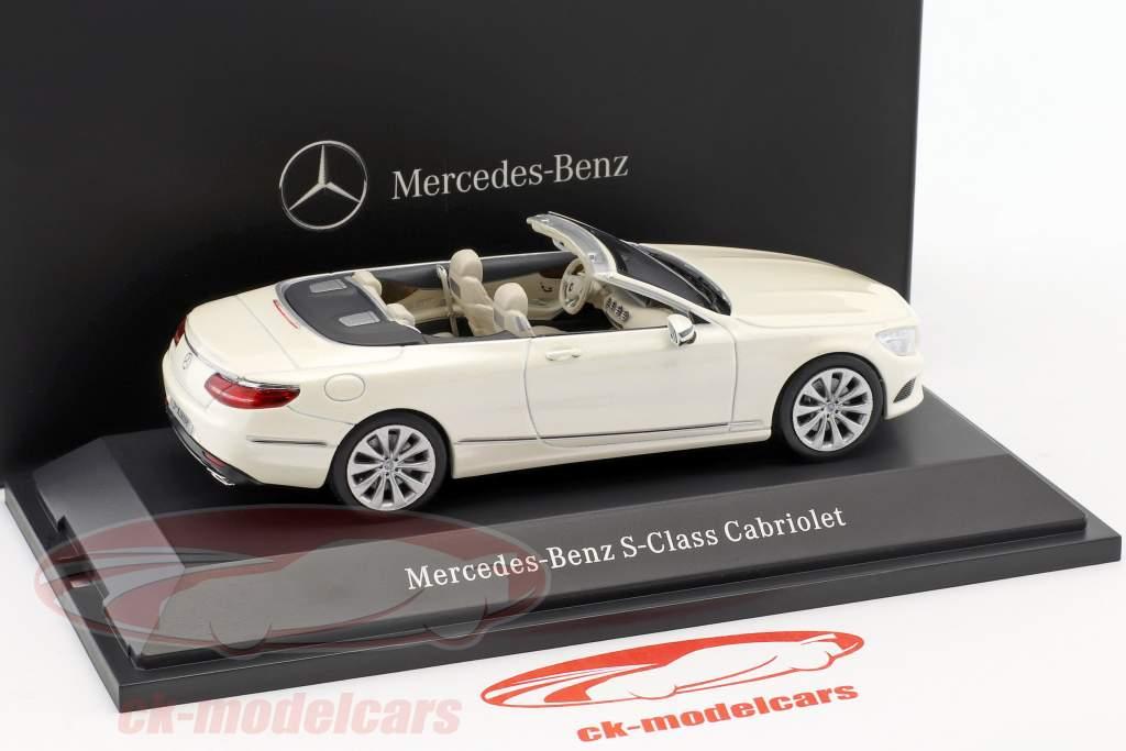 Mercedes-Benz S-Klasse Cabriolet (A217) diamant weiß 1:43 Kyosho