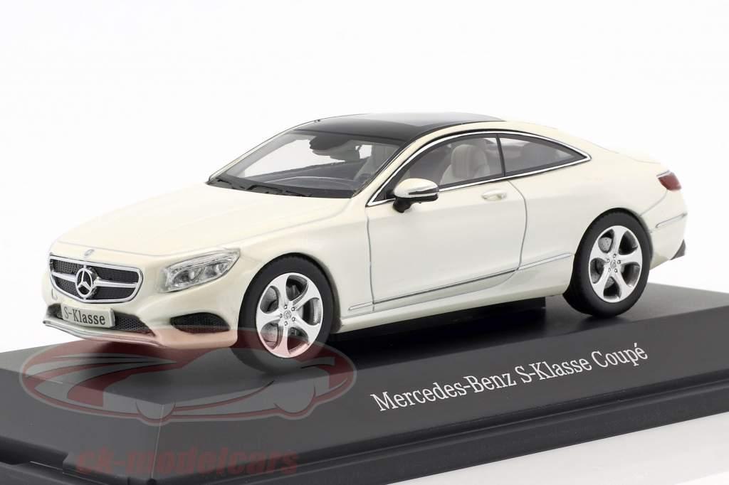 Mercedes-Benz S-Class coupe diamond white metallic 1:43 Kyosho