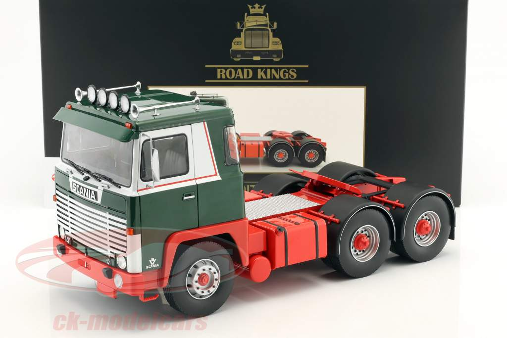Scania LBT 141 Tractor year 1976 green / red / white 1:18 Road Kings
