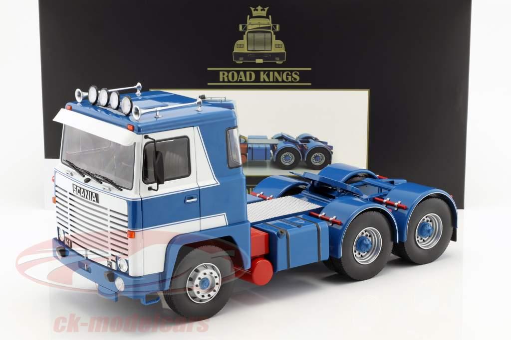Scania LBT 141 trekker Bouwjaar 1976 wit / blauw 1:18 Road Kings