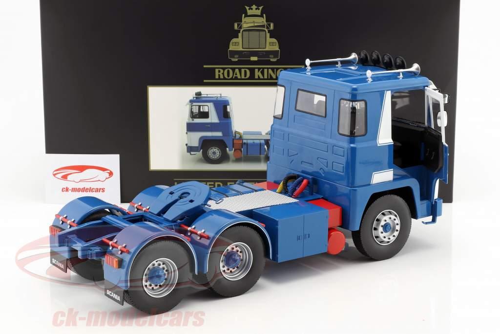 Scania LBT 141 Traktor Opførselsår 1976 hvid / blå 1:18 Road Kings