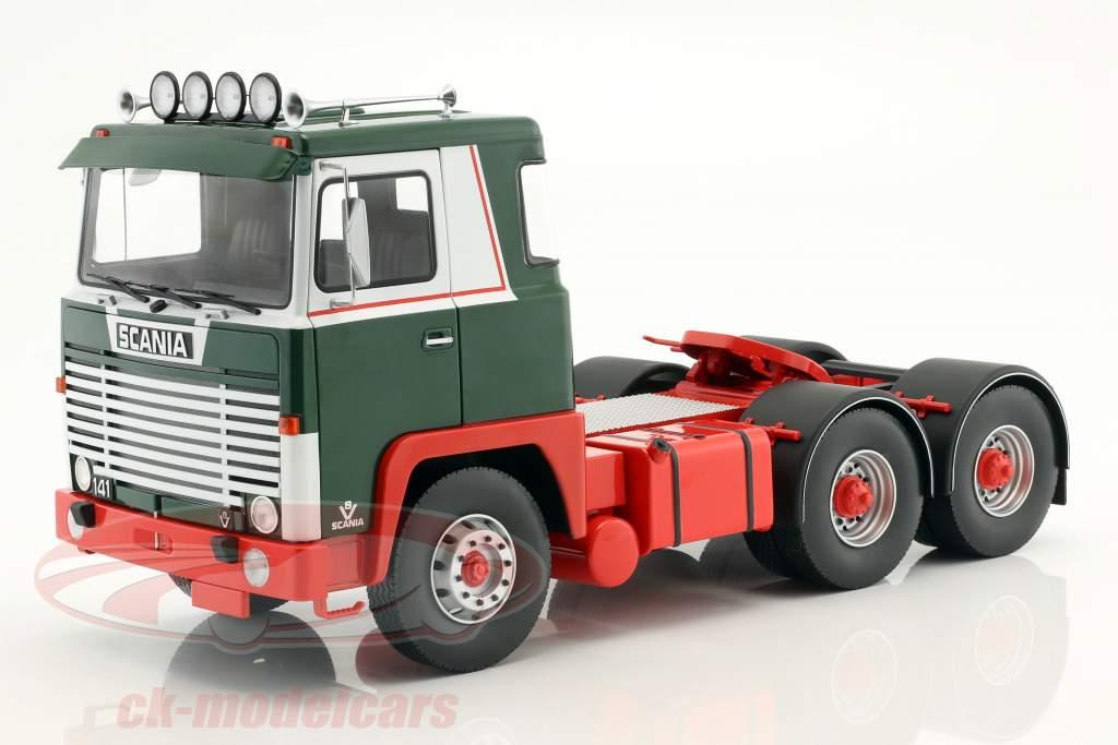Scania LBT 141 tracteur année de construction 1976 vert / rouge / blanc 1:18 Road Kings