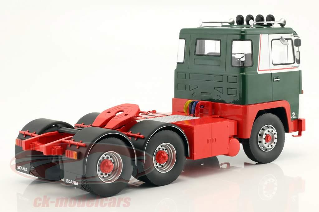 Scania LBT 141 trator ano de construção 1976 verde / vermelho / branco 1:18 Road Kings