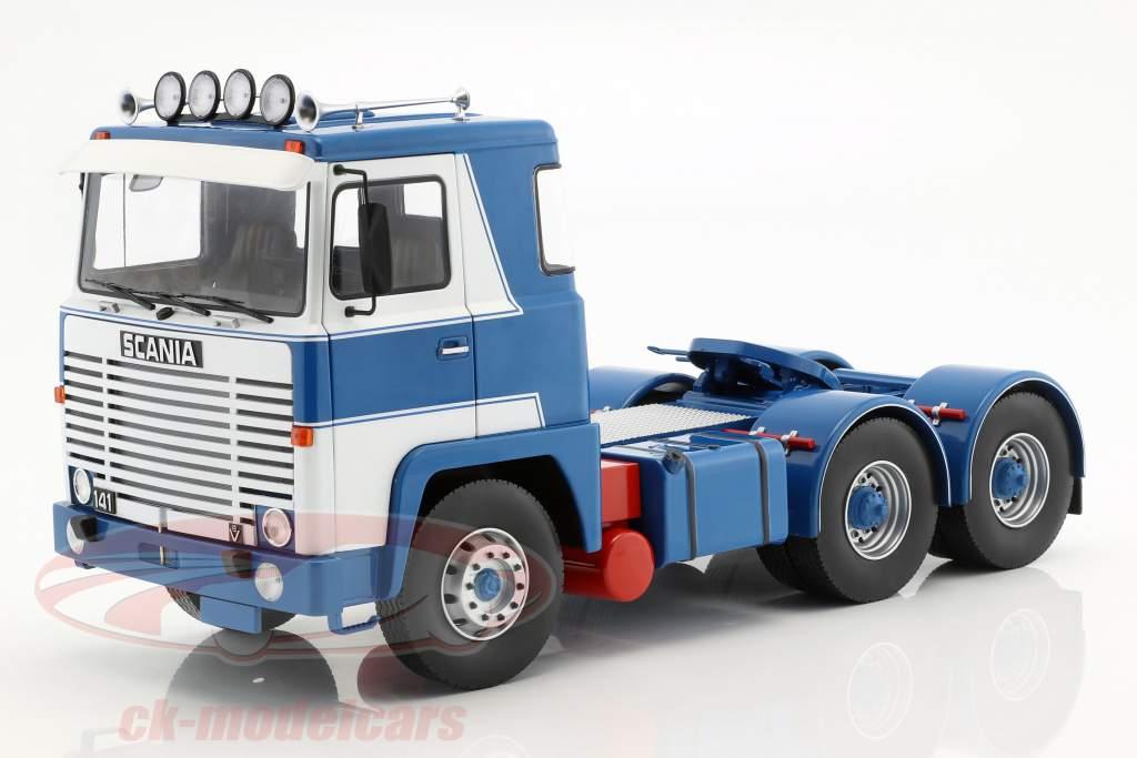 Scania LBT 141 tracteur année de construction 1976 blanc / bleu 1:18 Road Kings