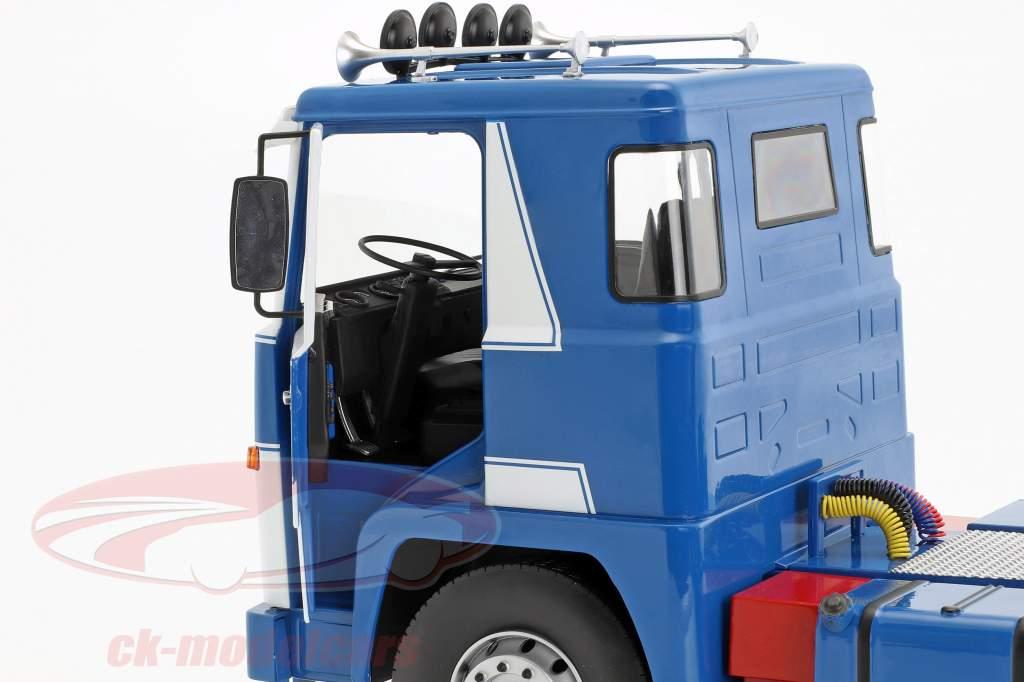 Scania LBT 141 Sattelzugmaschine Baujahr 1976 weiß / blau 1:18 Road Kings