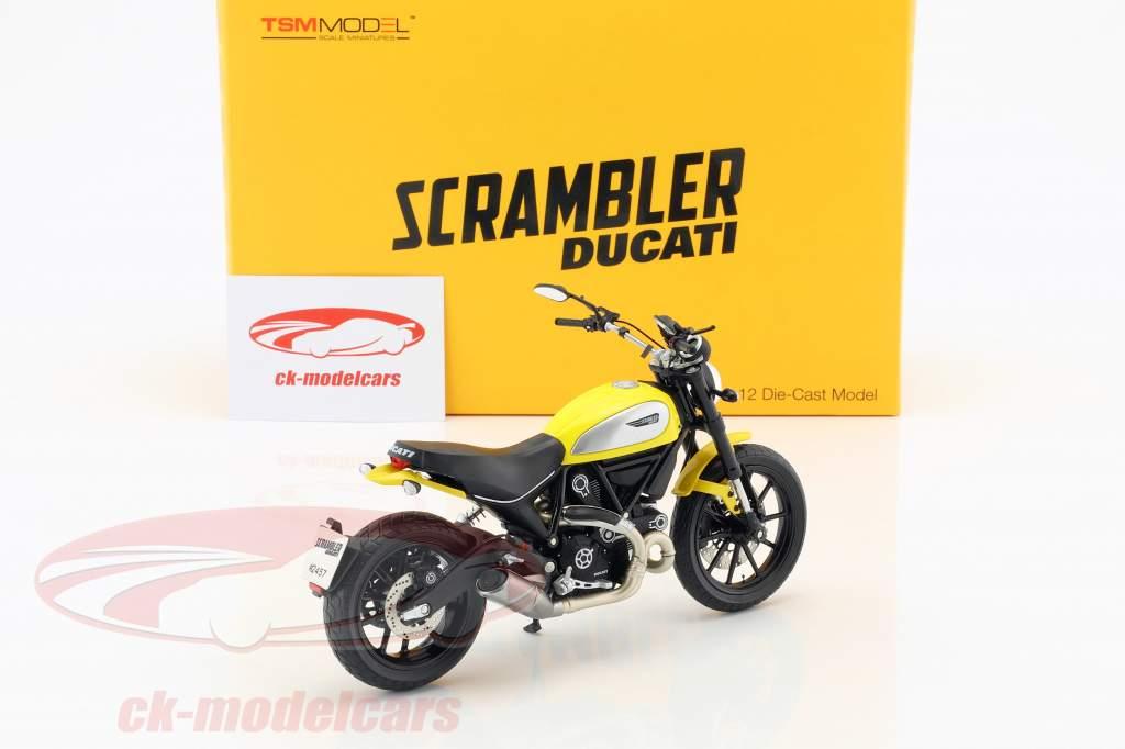 Ducati Scrambler Classic 803cc Icon '62 amarillo / negro 1:12 TrueScale