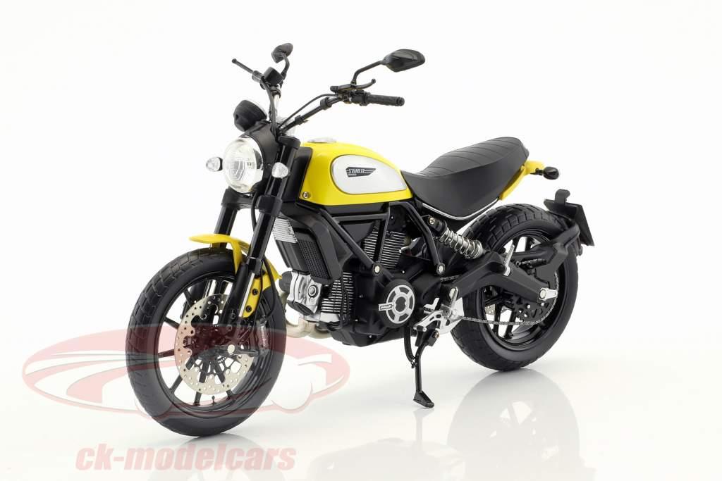 Ducati Scrambler Classic 803cc Icon '62 geel / zwart 1:12 TrueScale