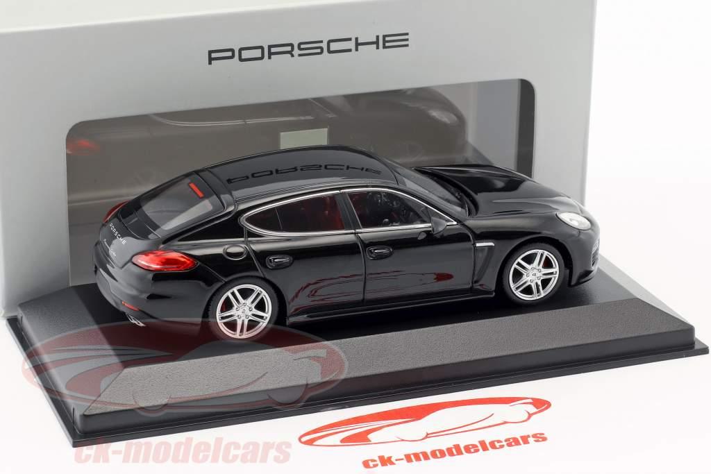 Porsche Panamera Turbo Gen. II Baujahr 2014 schwarz 1:43 Minichamps