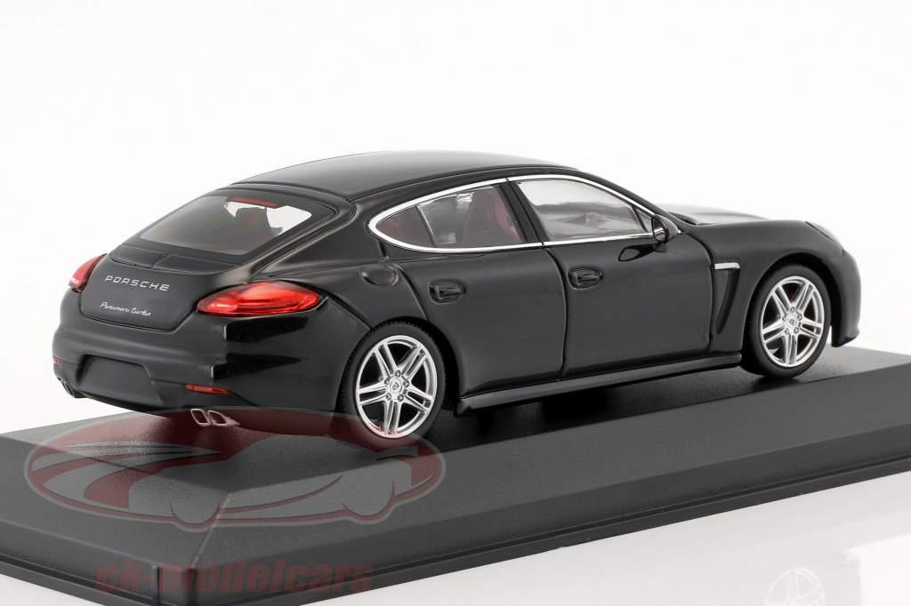 Porsche Panamera Turbo Gen. II Bouwjaar 2014 zwart 1:43 Minichamps