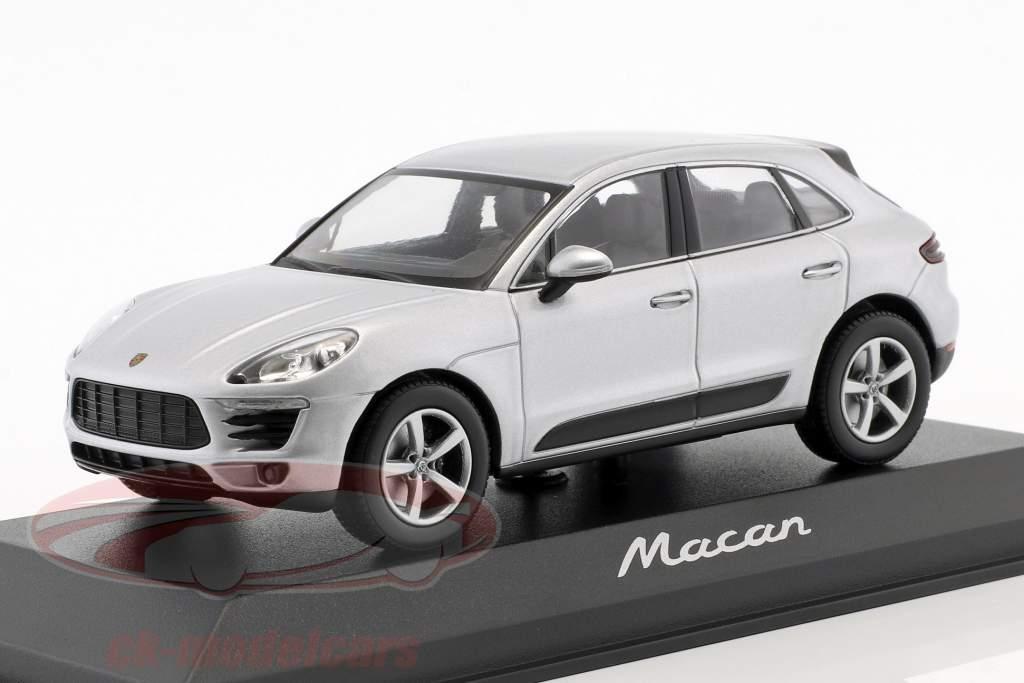 Porsche Macan anno di costruzione 2013 rhodium argento 1:43 Minichamps