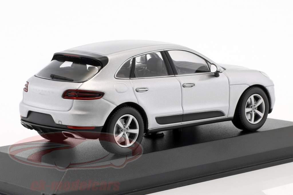 Porsche Macan ano de construção 2013 rhodium prata 1:43 Minichamps