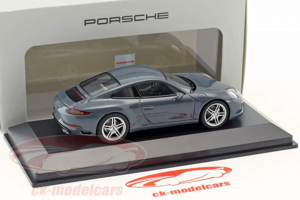 Porsche 911 (991 II) Carrera Coupe year 2016 graphite blue 1:43 Herpa