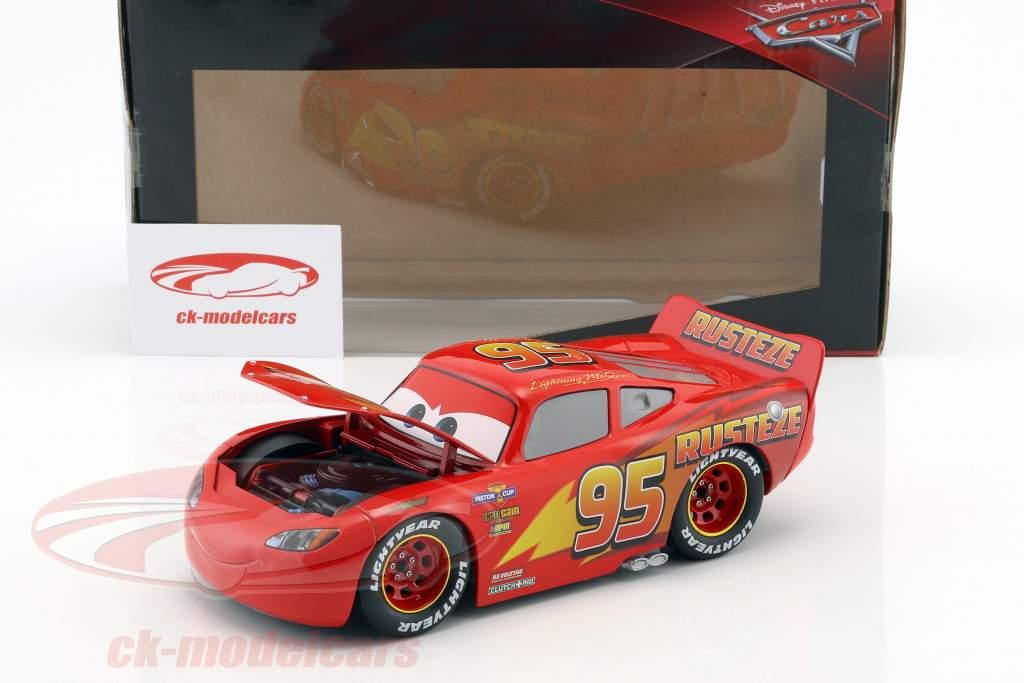 Lightning McQueen with Tire Set Disney Movie Cars 3 (2017) red 1:24 Jada Toys
