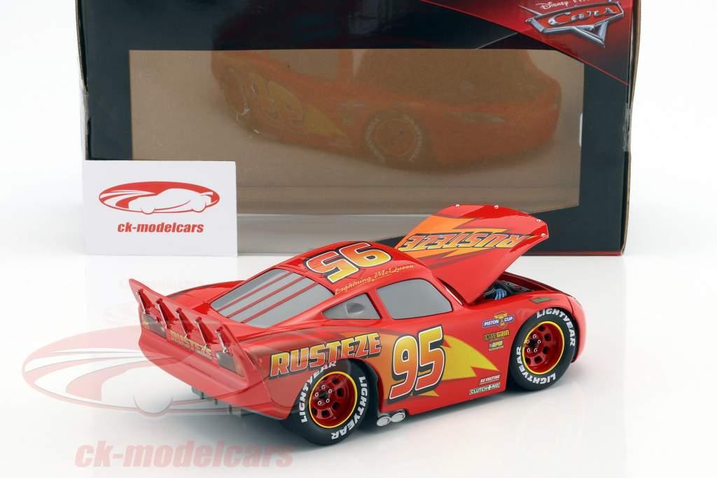 Lightning McQueen avec Set Tire Disney film Cars 3 (2017) rouge 1:24 Jada Toys