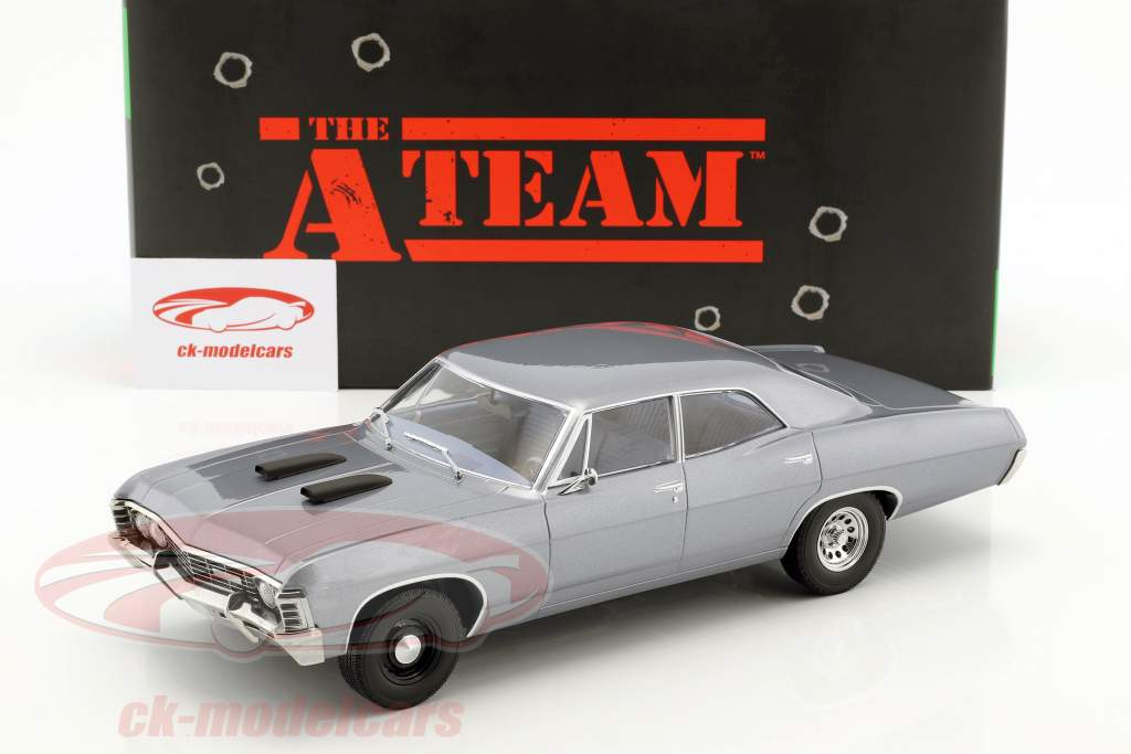Greenlight 1 18 Chevrolet Impala Sport Sedan Construction Year 1967 Tv Series The A Team 1983 87 Blue Gray 19047 Model Car 19047 819725021456