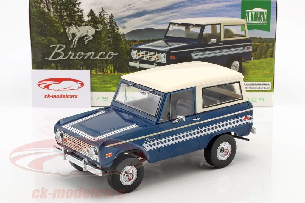 Ford Bronco Explorer anno di costruzione 1976 blu / bianco 1:18 Greenlight