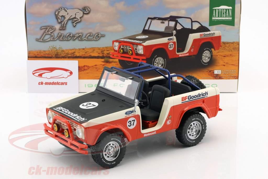 Ford Baja Bronco año de construcción 1966 rojo / blanco / negro 1:18 Greenlight