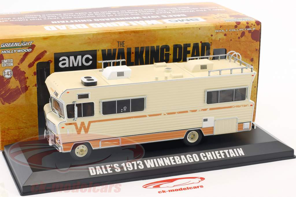 Dale's Winnebago Chieftain année de construction 1973 Série TV The Walking Dead (depuis 2010) beige 1:43 Greenlight