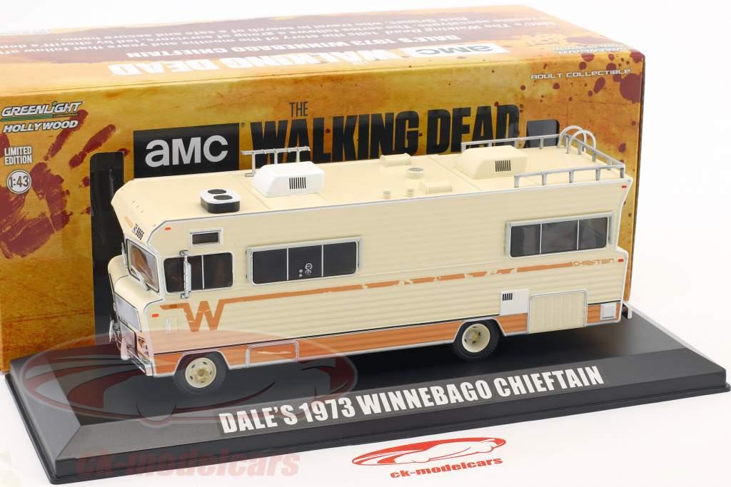 Dale's Winnebago Chieftain Bouwjaar 1973 tv-serie The Walking Dead (sinds 2010) beige 1:43 Greenlight