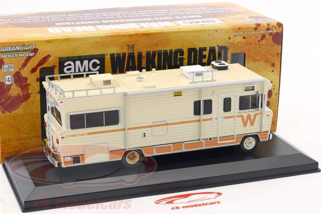 Dale's Winnebago Chieftain ano de construção 1973 série de TV The Walking Dead (desde 2010) bege 1:43 Greenlight