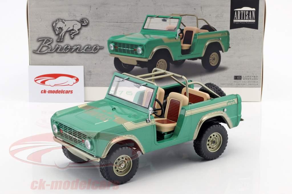 Ford Bronco ano de construção 1976 programa de TV Gas Monkey Garage (desde 2012) verde 1:18 Greenlight