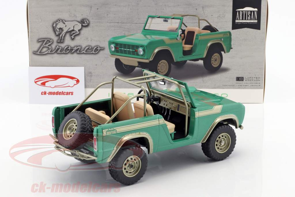Ford Bronco anno di costruzione 1976 show televisivo Gas Monkey Garage (dal 2012) verde 1:18 Greenlight